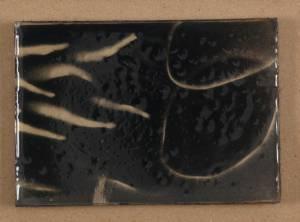 japanese fish III, 2013_spray/resin on paper_12x16