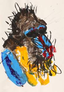 baboon, 2012_acrylic on paper_100x70