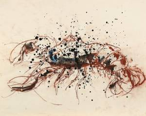 llamàntol, 2012_chalk/ink on rice paper_70x100