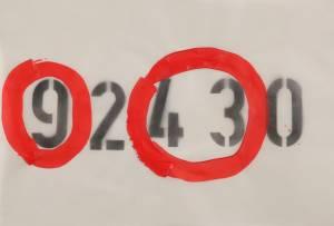 943, 2012_acrylic/spray on paper_100x70