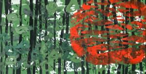 sunny forest, 2013_acrylic on canvas_95x197
