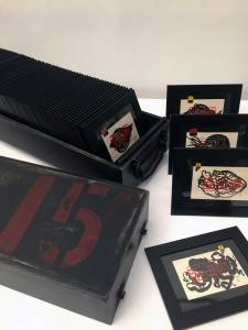 box with 80 drawings, 2012-15_wood/acrylic_24x83x20