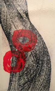 pain III, 2015_charcoal/acrylic/resine on cardboard_44x68
