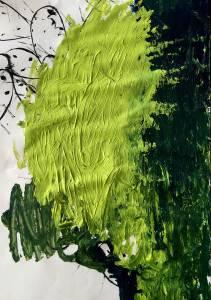cactus II, 2015_charcoal/acrylic on paper_50x70