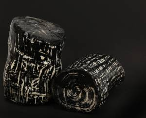 troncs, 2014_wood/paper/ink/resin
